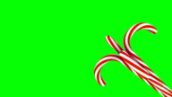 3D Christmas Candy Canes Spinning Around #2 video