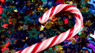 Christmas candy lying on the small stars video