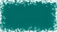 Christmas Card Frame with Snowflakes on Emerald Background. video