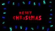 Christmas Card, Neon, Lights, Bulbs video