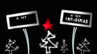 Christmas Card, Neon, Lights, Christmas Stars video