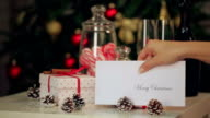 Christmas card on the table video