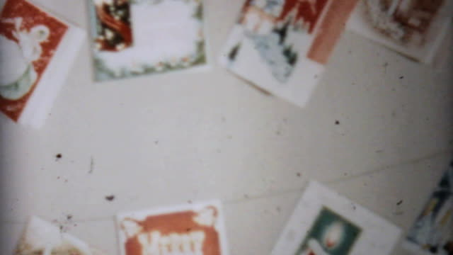 Christmas Cards On The Wall-1961 Vintage 8mm film video