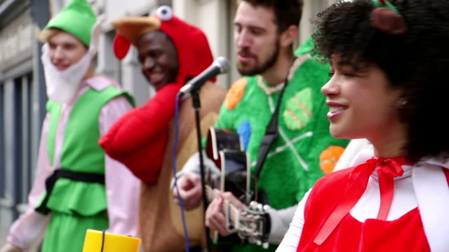 Christmas Charity Buskers video
