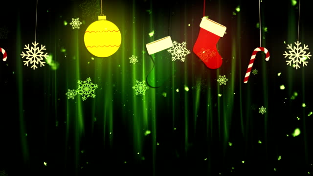 Christmas Cloth Ornaments 1 Loopable Background video