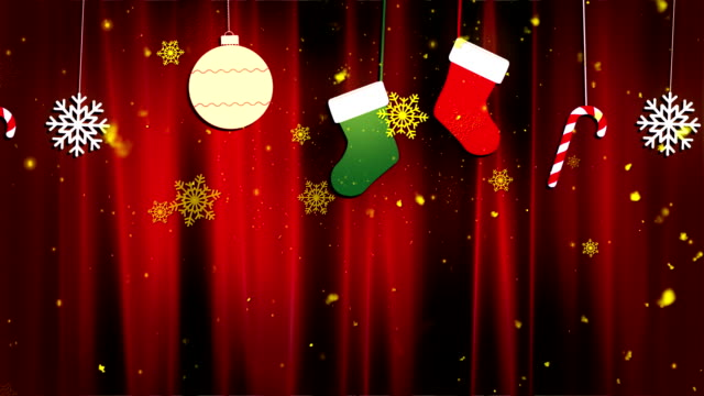 Christmas Cloth Ornaments 2 Loopable Background video