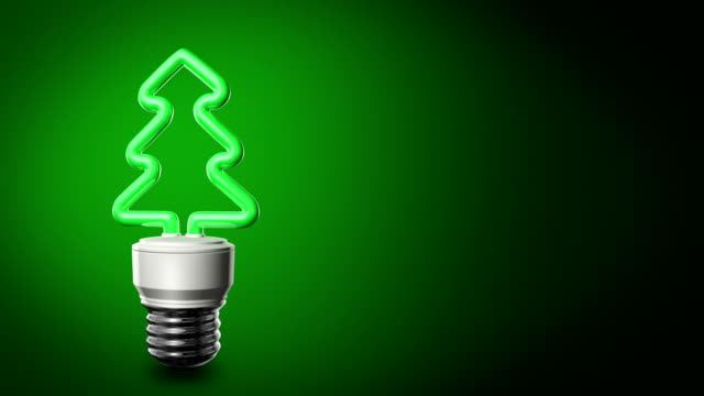 Christmas Compact Fluorescent Lightbulb video
