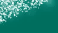 Christmas Corner Frame with Snowflakes on Green Background. video