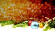 Christmas decoration with glitter background video