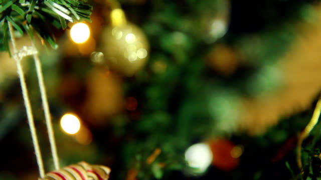 Christmas Decorations close up. HD video