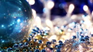 christmas decorations close-up seamless loop video
