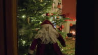 Christmas decorations from outside video