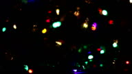 Christmas decorations on photocopier, office, christmas light video