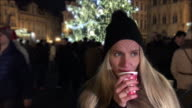 Christmas drink at town square market! video