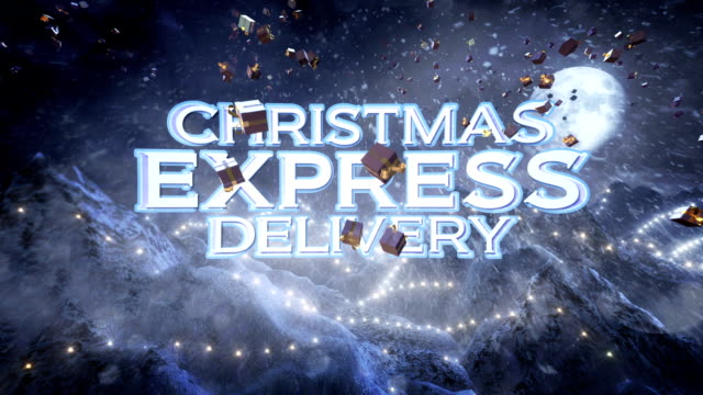 Christmas Express Delivery (night) - Loop video