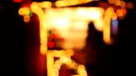 Christmas Fair, shadow of luminous background video