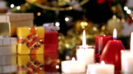 Christmas gifts and candles video