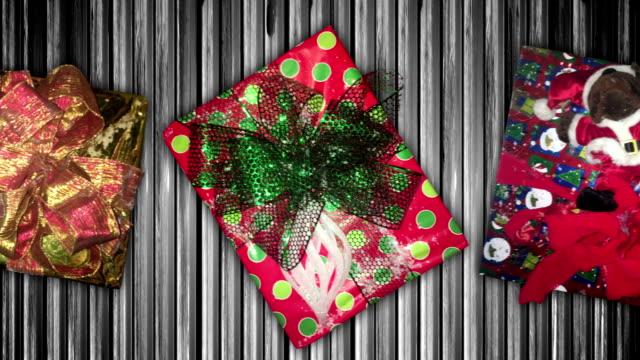 Christmas Gifts Move Along Conveyor Belt video