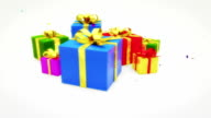 Christmas Gifts with confetti video