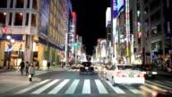 Christmas Ginza street at night video