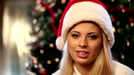 Christmas girl blowing magic dust video