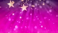 Christmas Glitter Stars Pink Background video