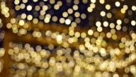 Christmas golden garlands. video