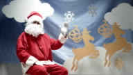 Christmas Greetings With Santa Claus video