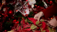 Christmas hands decorations video