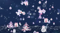 Christmas Icons Background - Blue. video