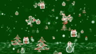 Christmas Icons Background - Green. video