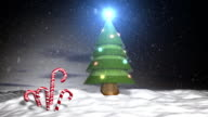 Christmas in North Pole with snow Loop video