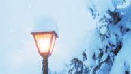 Christmas Lamp Post | Loopable video