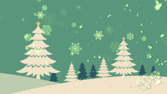 Christmas Landscape 1 Loopable Background video