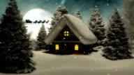 Christmas Landscape with Santa Claus video