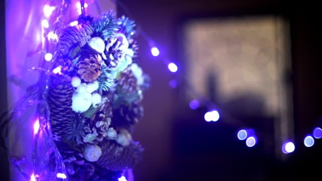 Christmas lightbulbs decoration rack focus video