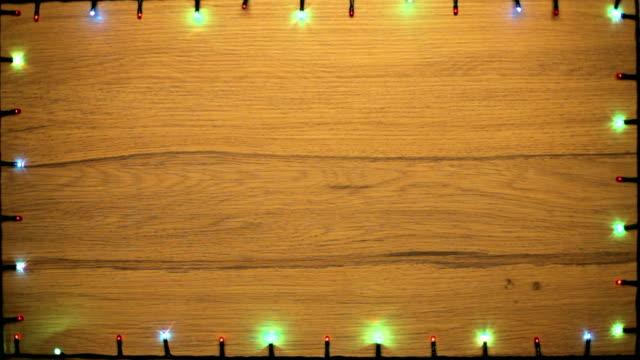 Christmas lights frame video