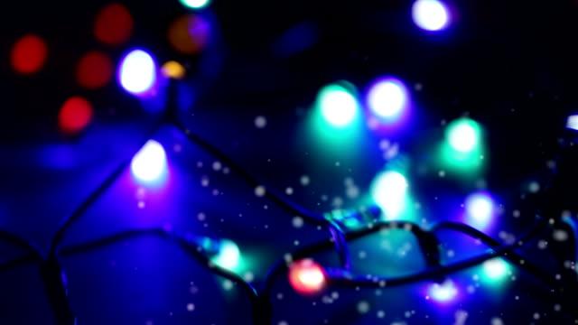 christmas lights (dolly shot) video