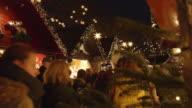 Christmas market close up video