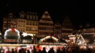 Christmas market in Frankfurt, Germany, at night video