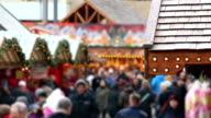 Christmas market, time lapse video