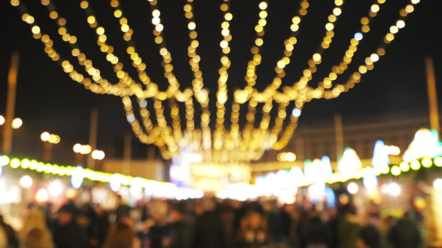 Christmas market. video
