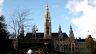 Christmas Market Vienna Town Hall - Time Lapse video