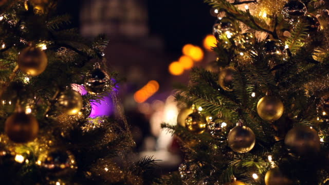 Christmas Market with Christmas-trees video
