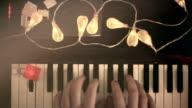 Christmas melody, funny, joke, humor, christmas light, hands, retro video