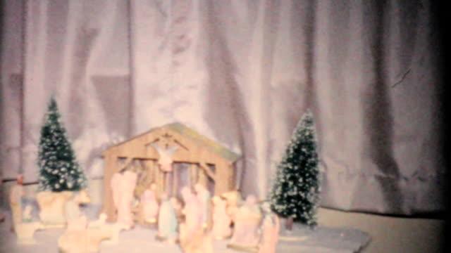 Christmas Nativity Scene-1957 Vintage 8mm film video