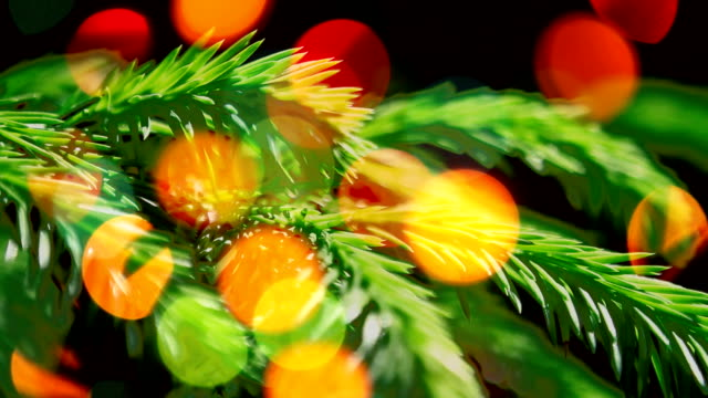 Christmas & New Year decoration with lights. video