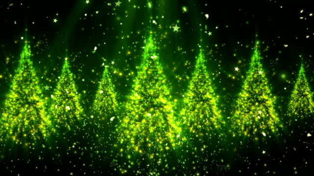Christmas New Year Tree Glitters 1 Loopable Background video