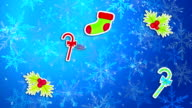 Christmas Ornament Blue Background Loop Animation video