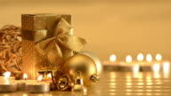 Christmas ornaments, candles and decoration video